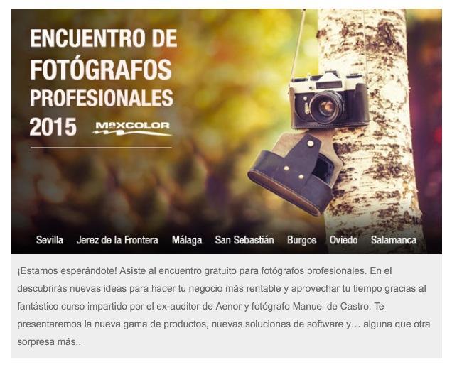 Encuentros Maxcolor para fotógrafos profesionales