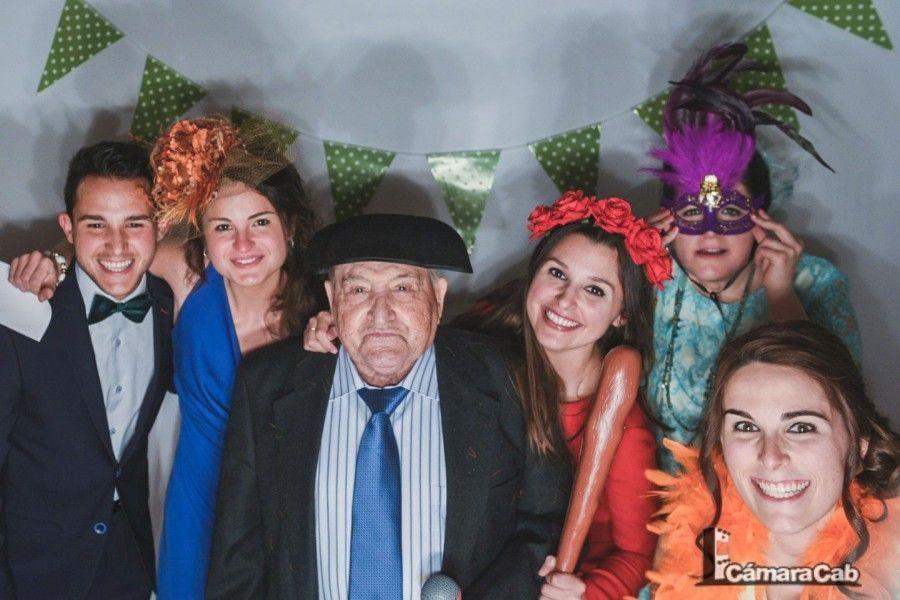 Fotocall Vídeocall bodas. Cortijo Pallarés
